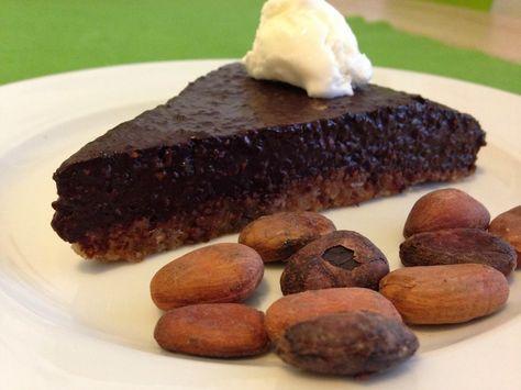 Luxusný čokoládový koláč bez múky, bez mlieka