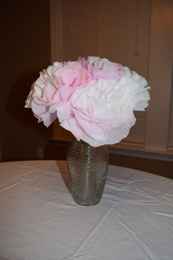 Paper Flower Centerpiece Peonies Wedding By MySouthernDecor