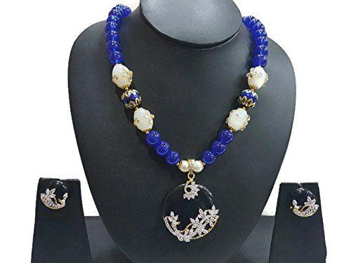 Blue & White Pearls Indian Bollywood Gold Plated Cz Tradi... https://www.amazon.com/dp/B06W2LSFD8/ref=cm_sw_r_pi_dp_x_t8vPybJBGNZJF