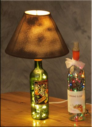 I could make a million of these out of my recycling bin: Homemade Lamps, Recycled Bottle, Bottle Crafts, Lamps Shades, Bottle Lights, Wine Bottle Lamps, Cool Ideas, Empty Wine Bottle, Diy Projects