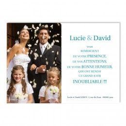 la bague au doigt une carte de remerciements personnaliser avec votre plus belle photo - Texte Carte De Remerciement Mariage