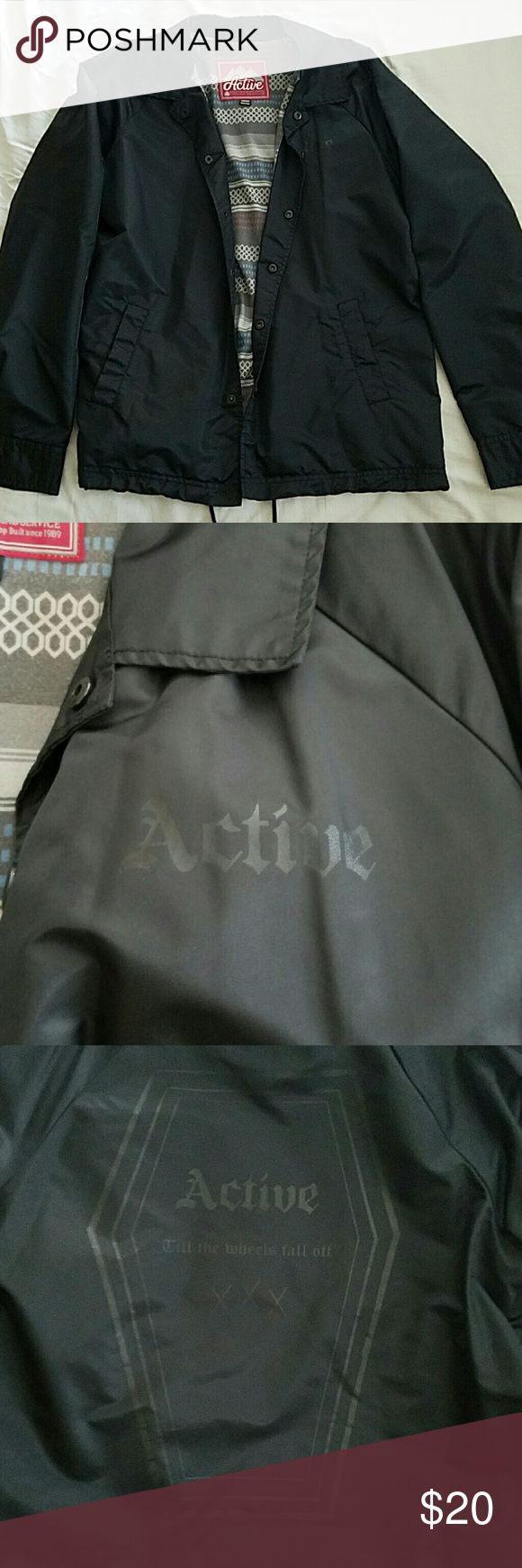 Active 'XXX' Jacket Comfy Active Brand jacket. Print on the back, two pockets on the front as well as draw strings. Make an offer! active ride shop Jackets & Coats