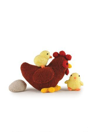 Hen, chicks and eggs free pattern - Knitting Magazine - Crafts Institute
