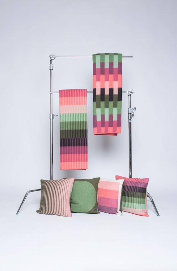 Kristine Five Melvær, Røros tweed blankets.