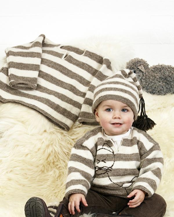 Barntröja och mössa #knittingroom #stickat #garn #barn