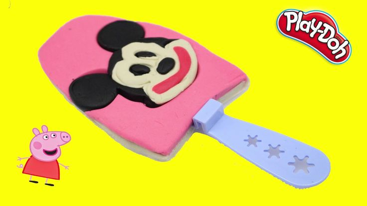 DIY How to Make Play Doh MICKEY MOUSE Ice Cream - Play Doh Kids