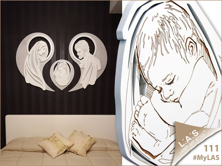 #MyLAS Welcome to Mena's #home! #bedroom #design #homeinspiration #interiors http://www.laserartstyle.it/home/gallery/my-las/ SACRED WALL SCULPTURES | CODE: SI-266-SF | SIZE: 120x90 cm | COLOUR: silver-white