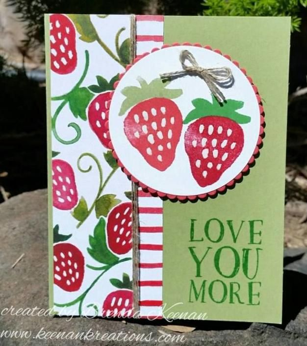 Repeat a simple layout to create quick & easy cards using the Fresh Fruit stamp set and Fruit Stand Designer Series Paper from Stampin' Up!