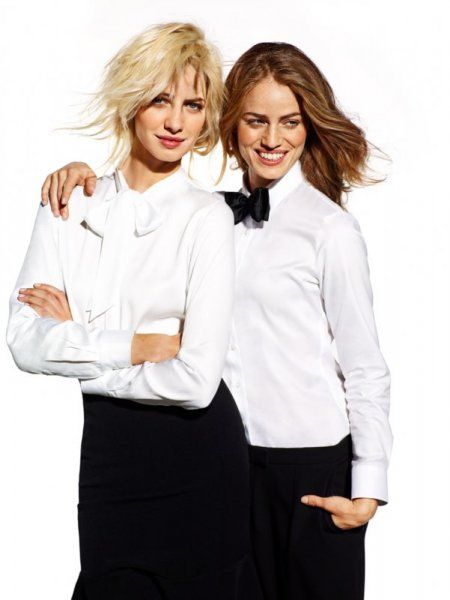 Wólczanka wiosna/lato 2015 kolekcja damska damskie koszule białeklasyczne koszule Wolczanka campaign Wólczanka