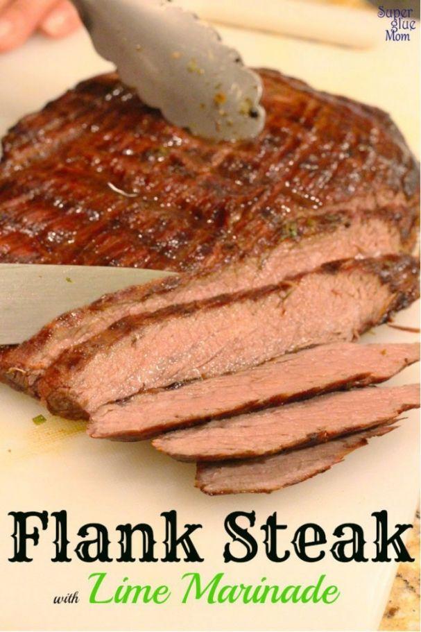 Flank Steak with Lime Marinade #30minutemeal #paleo via SuperGlueMom.com