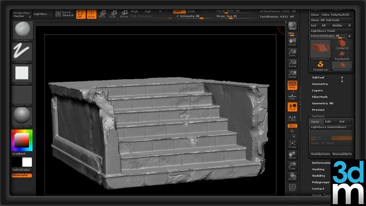 "Using ZBrush to Create Quick ""Beat Up"" Edges and Cracks - 3dmotive"