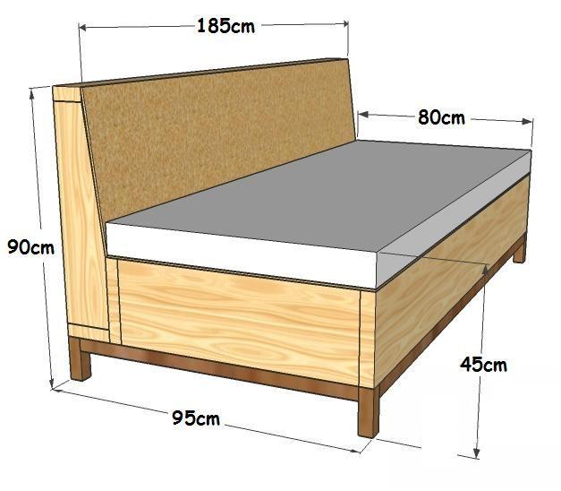 Las 25 mejores ideas sobre sofa cama individual en for Cama individual con cajones