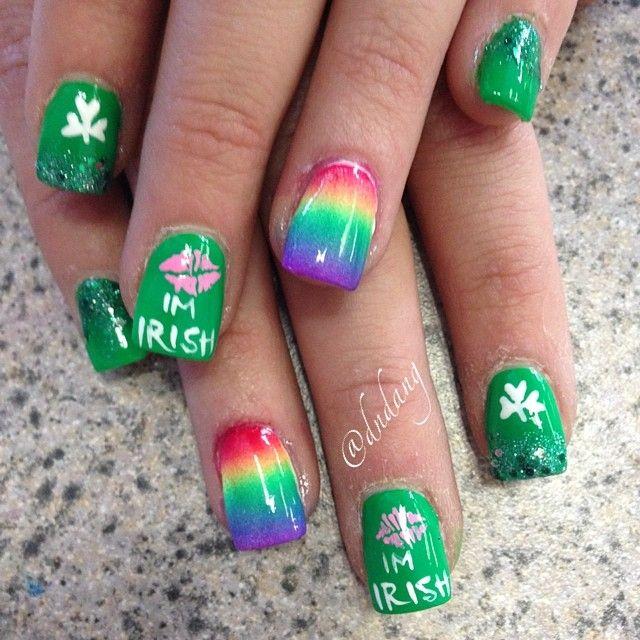 dndang ST Patrick'S DAY #nail #nails #nailart