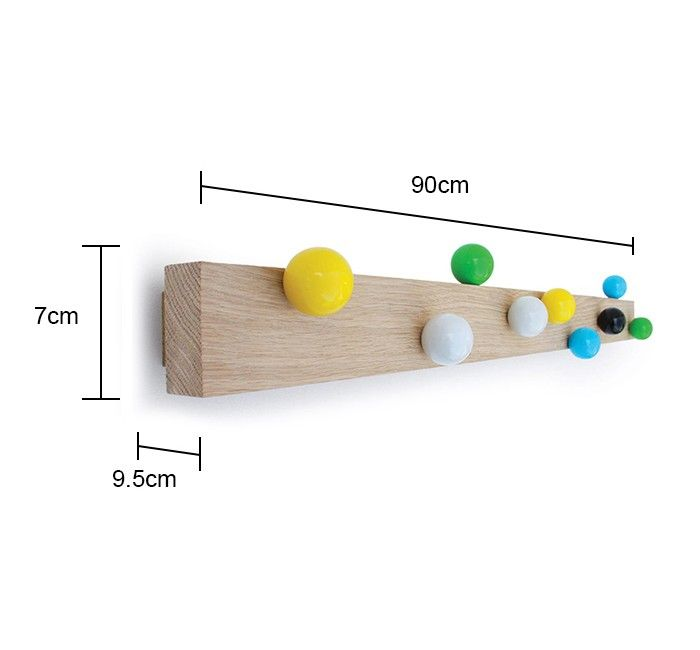 Coloured Ball Rack - Multicoloured