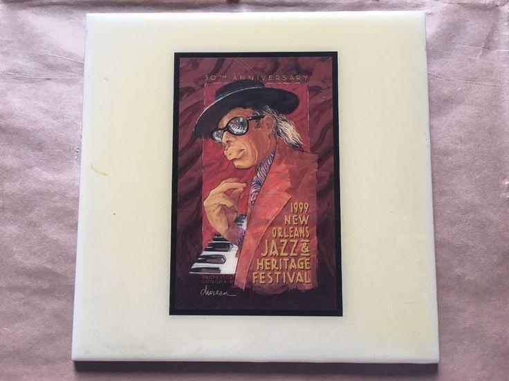 Festival TILE ~ New Orleans Jazz & Heritage Fest ~ RARE 1999 Professor Longhair | Home & Garden, Home Décor, Tile Art | eBay!