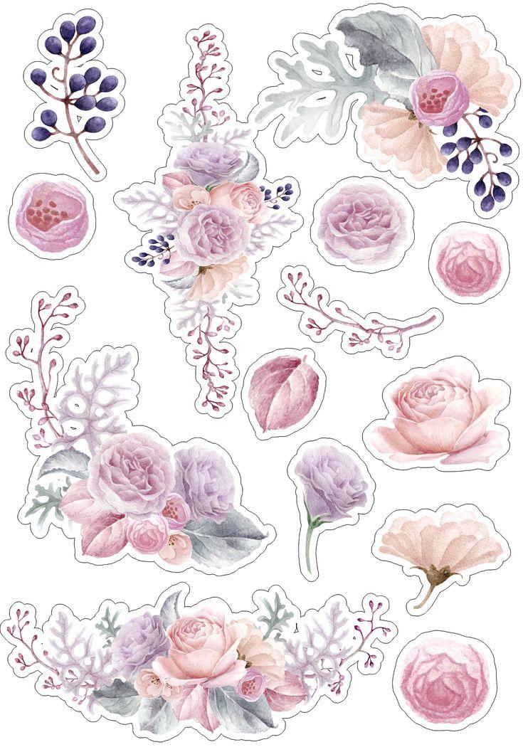 очень арты с цветами в виде наклеек тому же