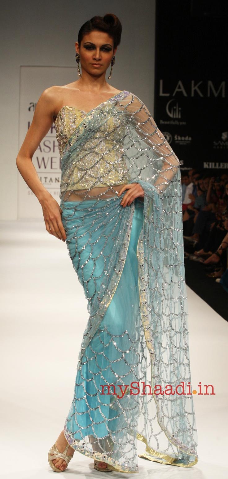 Indian bridal wear by abdul halder indian for Trendy indian wedding dresses