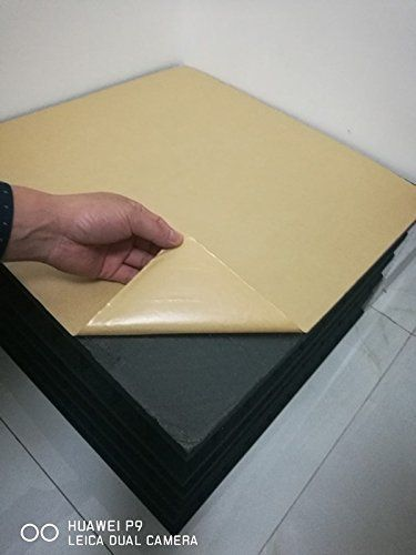 """Acoustic Studio Soundproofing Foam Panels (12 Pack) 12"""" x 12"""" x 1"""" THICK (JUST PEEL AND STICK) Self-Adhesive Fireproofed Insulated Black Wedge Tiles for Homes and Auditoriums  SEE ADDITIONAL """"DOUGLAS PRIME"""" ACOUSTIC STUDIO SOUNDPROOFING FOAM PANEL PHOTOS BELOW UNDER """"PRODUCT DESCRIPTION"""".  Easy peel and stick Application! 12"""" x 12"""" x 1"""" Self Adhesive Foam Panels specifically designed for easy installation!! Great for Vocal Booths, Control Rooms, and Theaters. ORDER TODAY!  25 kg Densit..."""