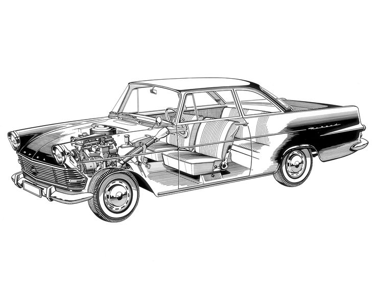 1960-63 opel rekord coupe  p2