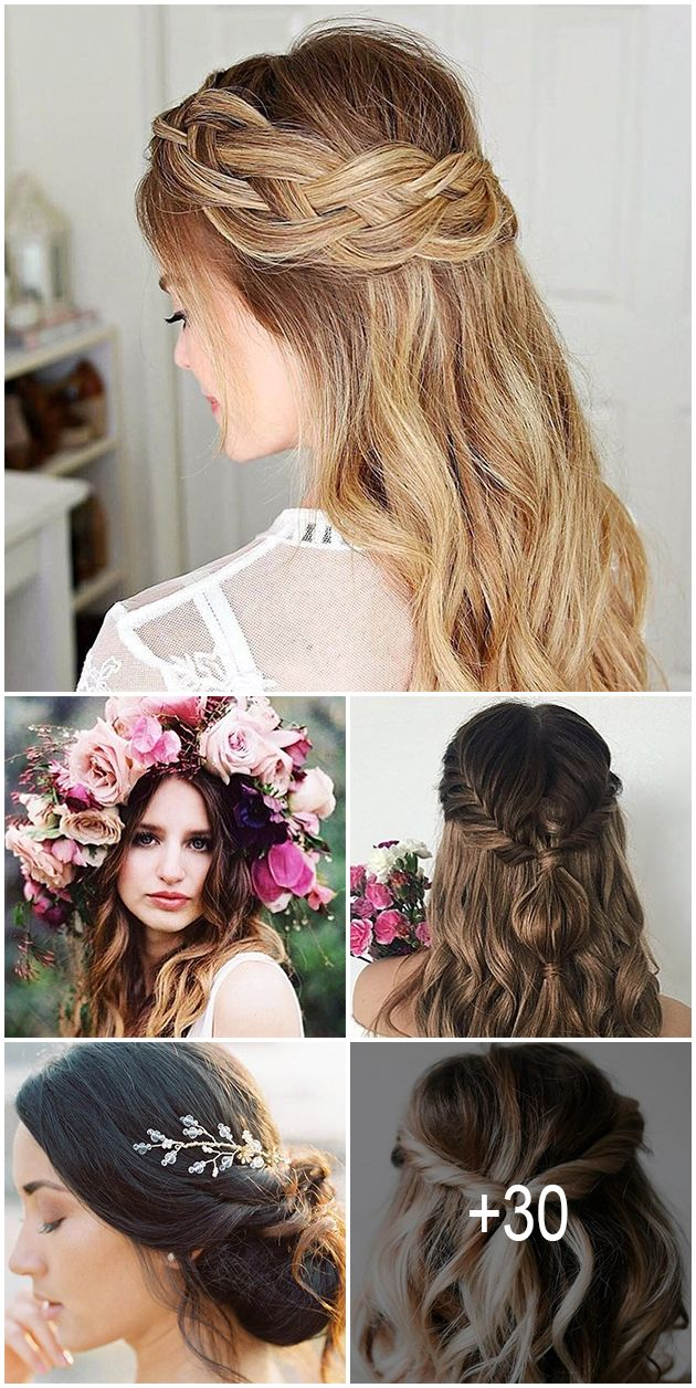 30 cute and easy wedding hairstyles | hair and makeup