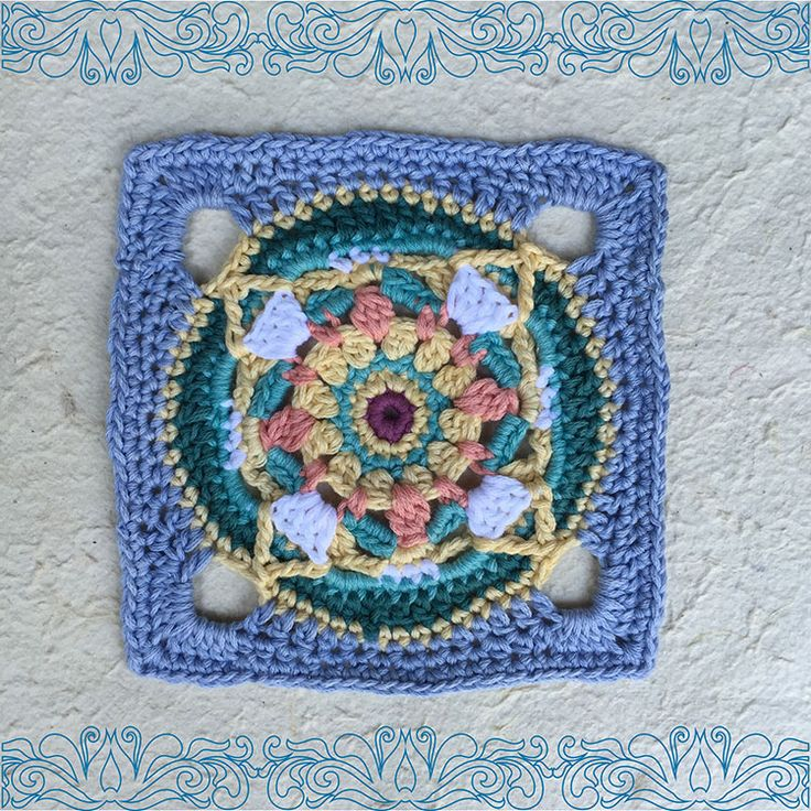 Moroccan crochet square #6   Vrouekeur