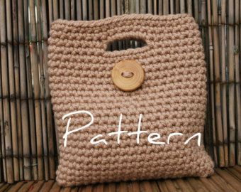 Ladies Big Button Clutch Purse - PDF crochet pattern - Listing15