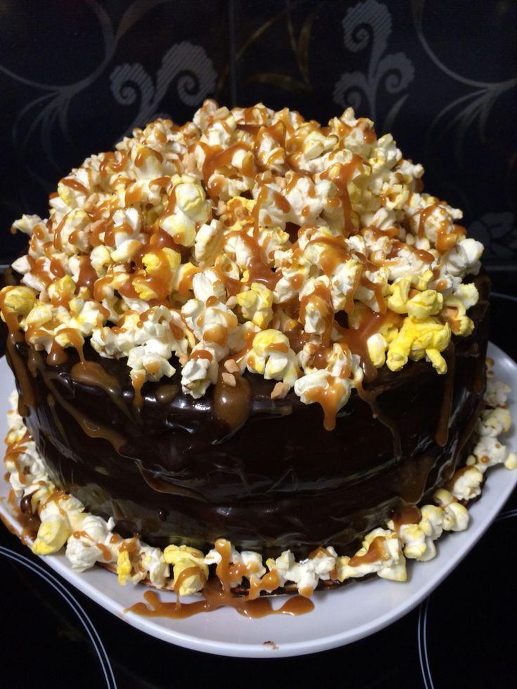 Hersheys Black Magic Popcorn Cake