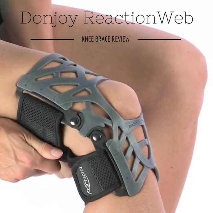 """The Donjoy Reaction Web Knee Brace was designed with athletes in mind, specifically those suffering from knee pain caused one of of the following: Meniscus tears, Mild Osteoarthritis, Patellofemoral Pain Syndrome, Patellar Tendonitis, Patellar Tracking Issues, Quadriceps Tendonitis & more. Visit us for more information."