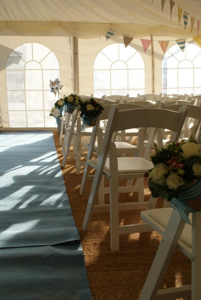 Flowers Adorn The Aisle At First Official Beach Wedding In England And Wales
