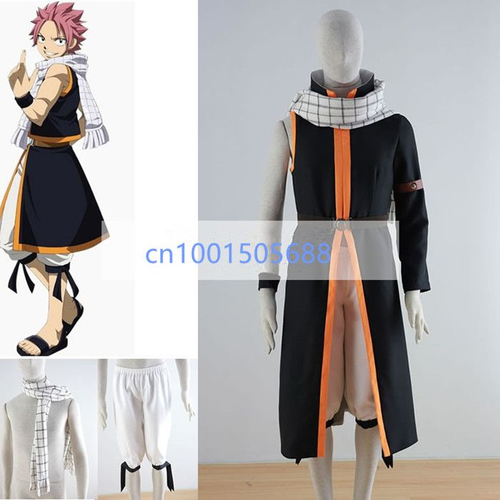 New version Fairy Tail Natsu Dragneel Cosplay Costume Any Sizes Include the Scarf #Affiliate