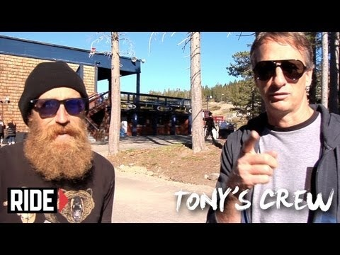 Tony and his crew head up to Woodward Tahoe for there grand opening. Special guests Riley Hawk, Slash, Curren Caples and Mike Vallely destroy the new park. Also featuring: Clive DIxon, Mike Davis, Shaun Gregoire, and Jaws.    Hang out with Tony Hawk and his crew every other Tuesday as they take on different cities, countries and skate spots around the globe.