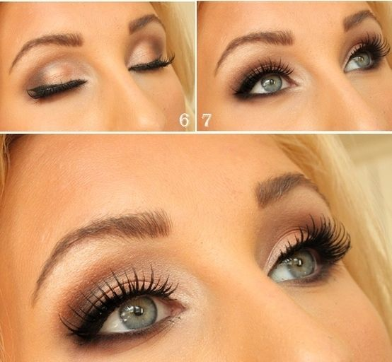 Shimmery Light Brown Smokey Eye Inspiration - Post Pics of DIY or Otherwise! « Weddingbee Boards