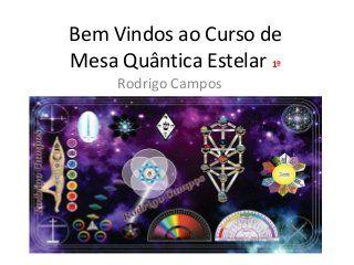 Apostila - Mesa Quântica Estelar Rodrigo Campos. Mais Informações: mesaquanticaestelar.blogspot.com