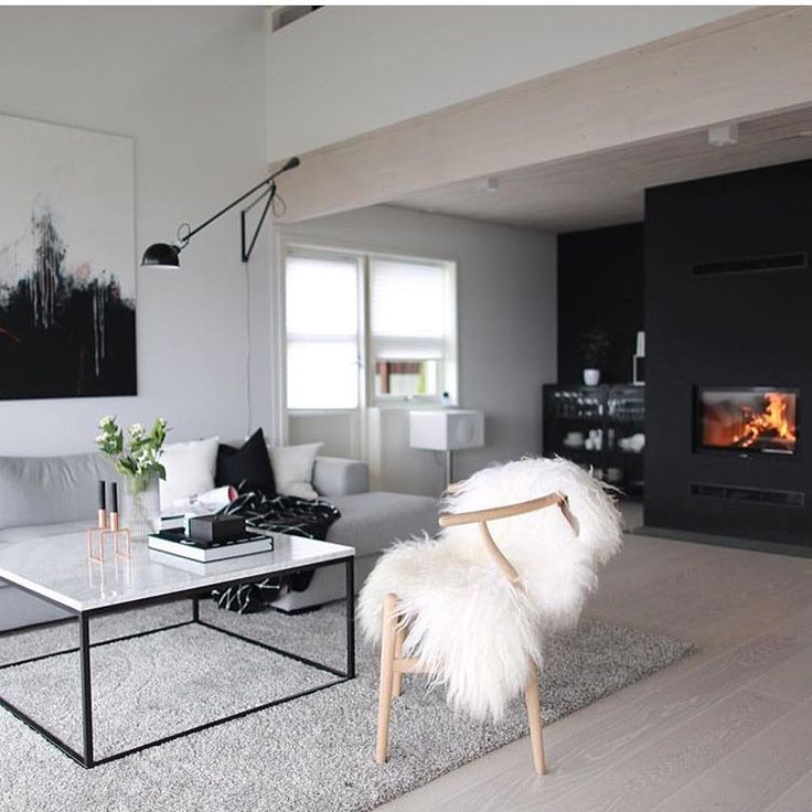Another stunning space via @lindakipper we just love the sheepskin on the wishbone chair and that Flos light!! We have Icelandic sheepskins now in store!