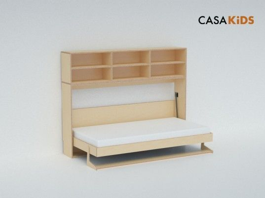 For the Tiny House.  casa kids, CASAKids, eco loft bed, Green Furniture, green kids, Murphy beds, sustainable bed, space saving bed, fold away bed, casa kids tuck bed, tuck collection