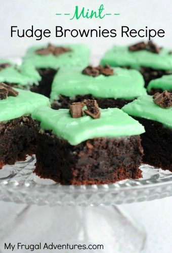 Love Thin Mints?  You have to try these brownies-- the thin mints are inside the batter! Yum!