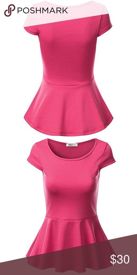 Pink peplum top PINK PEPLUM TOP, RUNS SMALL,  VERY CUTE AND SEXY Tops