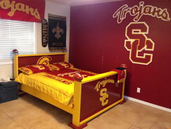 Twin Bed Frame Sports Theme Baseball Football By