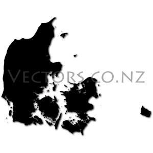 Blank Vector Map of Denmark