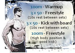 Swimming Workouts for Beginners. Seems easy, but its probably not lol