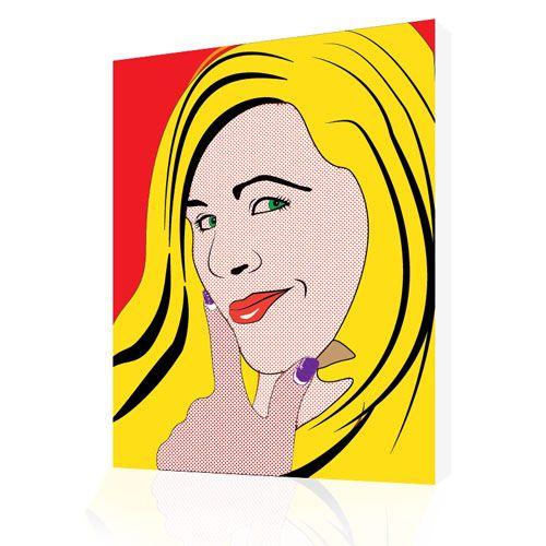 Photo to Canvas Womans Portraits lichtenstein comic Style