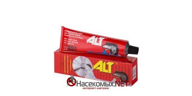 Клей от грызунов и насекомых - ALT 135 г. ДВ - полибутилен, полиизобутилен. Препарат предназначено для отлова грызунов внутри и вокруг жилых и нежилых помещений.Пригоден для использования в сухих и влажных помещениях. Купить препарат ALT в нашем интернет-магазине: http://насекомых.net/magazin/klej-ot-gryzunov-i-nasekomyx-alt/