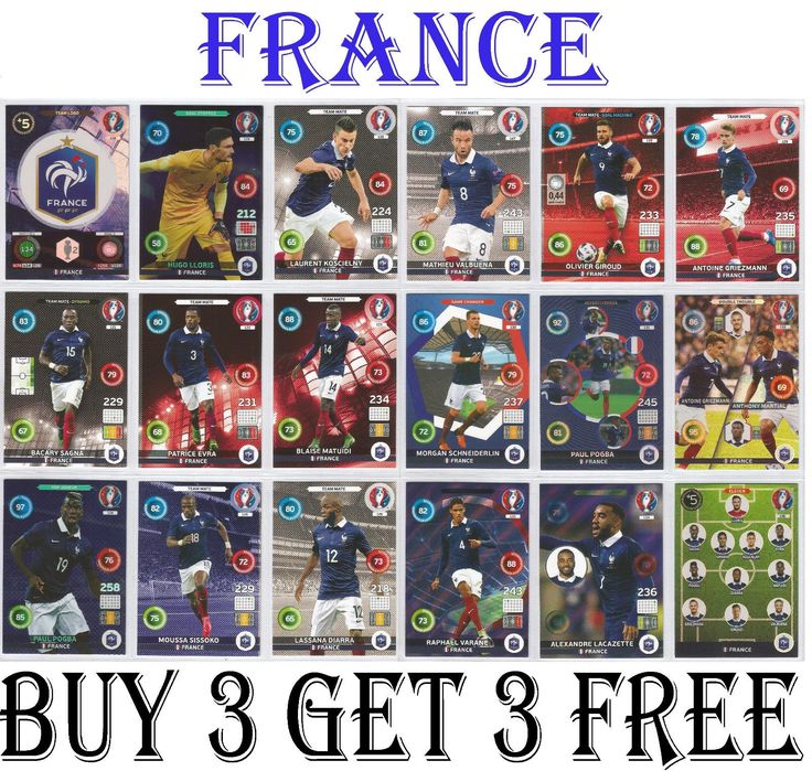 #118-135 #france euro 2016 #panini adrenalyn cards,  View more on the LINK: http://www.zeppy.io/product/gb/2/401073684843/