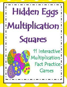 Hidden Eggs Multiplication Squares