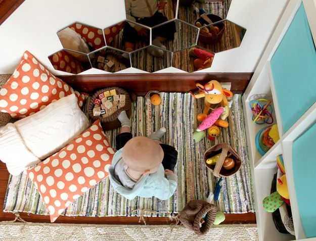 baby play area from above