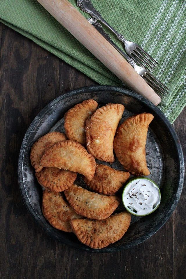 Pierogies with Spicy Feta Filling   www.diethood.com   2-ingredient, Deep-Fried Pierogies filled with a Spicy Feta Filling   #recipe #pierogies #appetizers #fingerfood