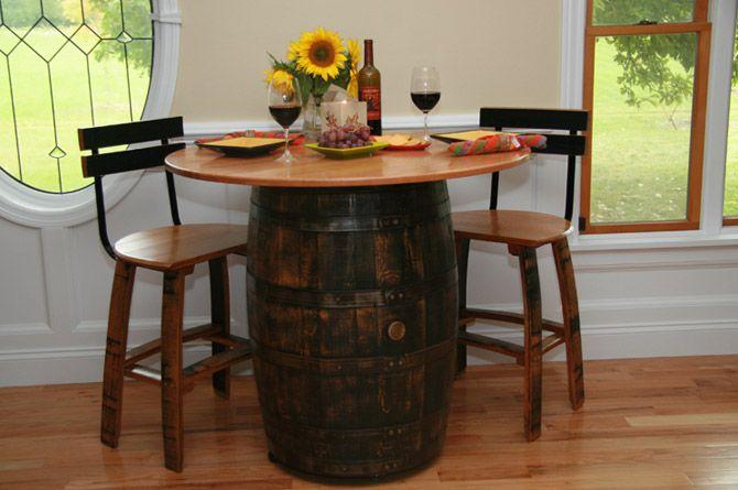 .Kitchens,  Boards, Barrels Design, Bistro Tables, Wine Barrels, Dreams House, Barrels Bistros, Cafes Ideas, Barrels Tables
