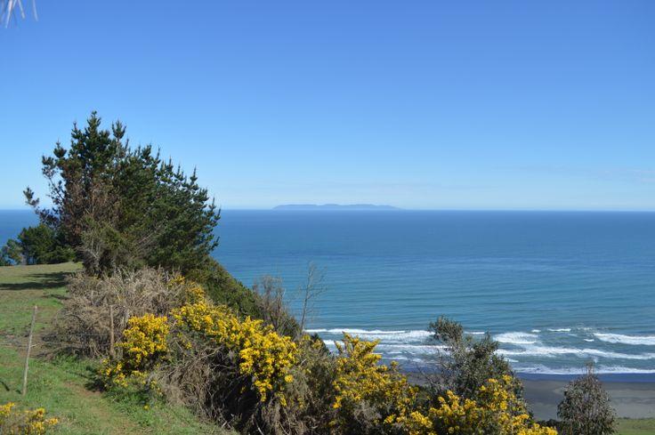 Vista a Isla Mocha desde Tirúa. Región del Bio Bio (VIII Región). provincia de Arauco. Chile