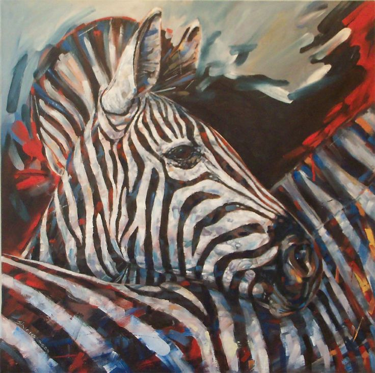 Wild Life Painting of Zebra's, oil on canvas.  By Sean Simons. Artisan Gallery, 0313124364