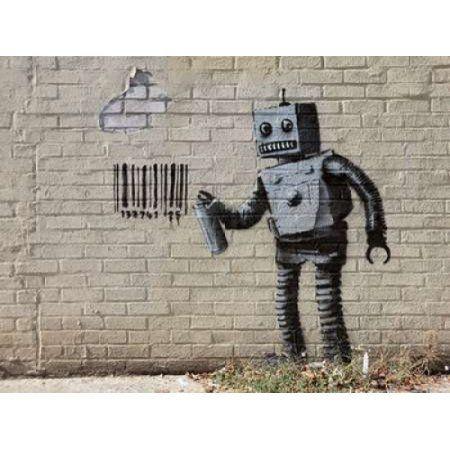 Posterazzi Stillwell Avenue Coney Island NYC-graffiti attributed to Banksy Canvas Art - Erik Pendzich (22 x 28)